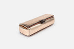metallic brush case in rose gold side view