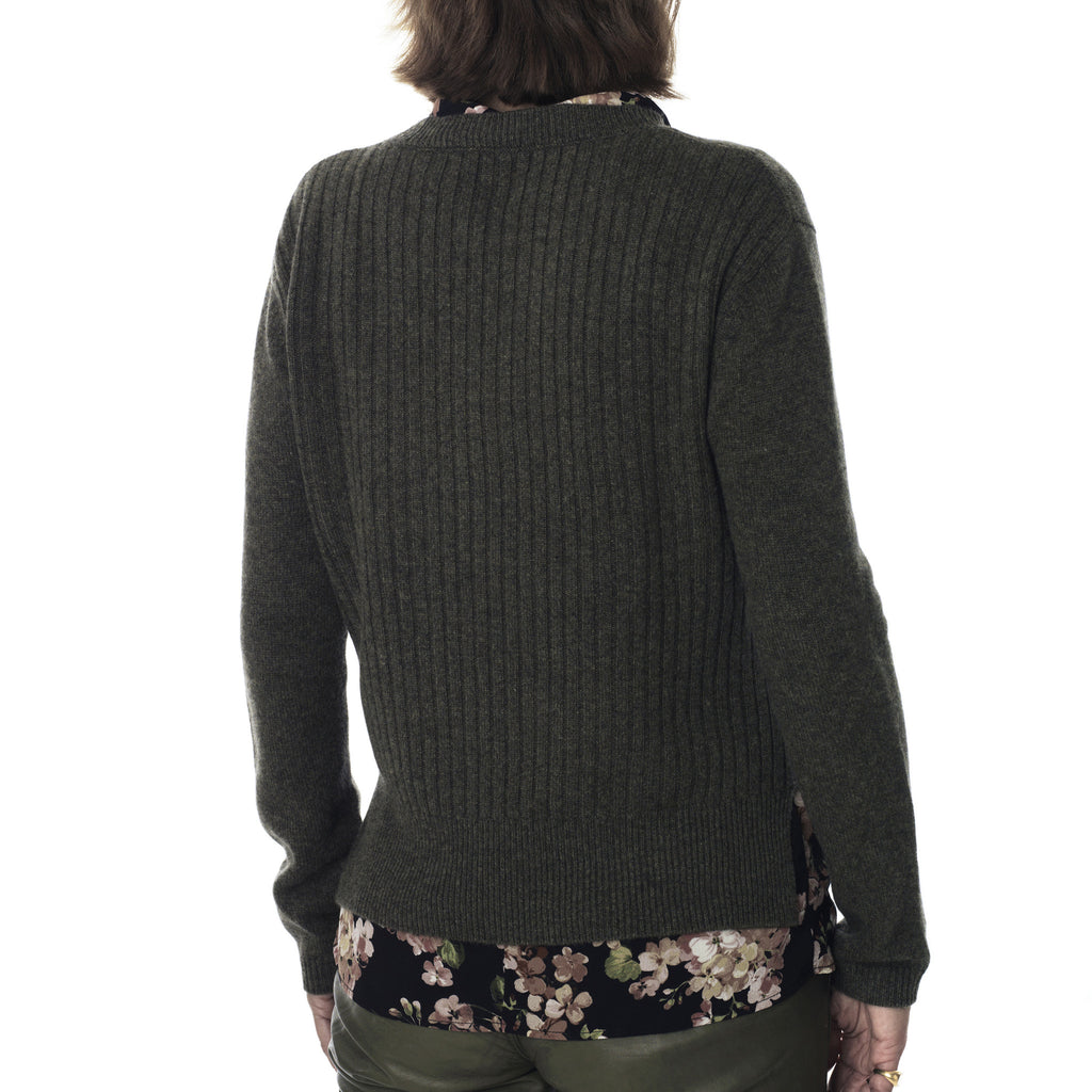 Cosy rib pullover - Dusty Olive