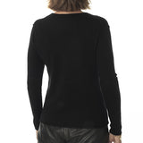 Deep V-neck cardigan - Black