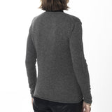 Deep V-neck cardigan - Medium Grey