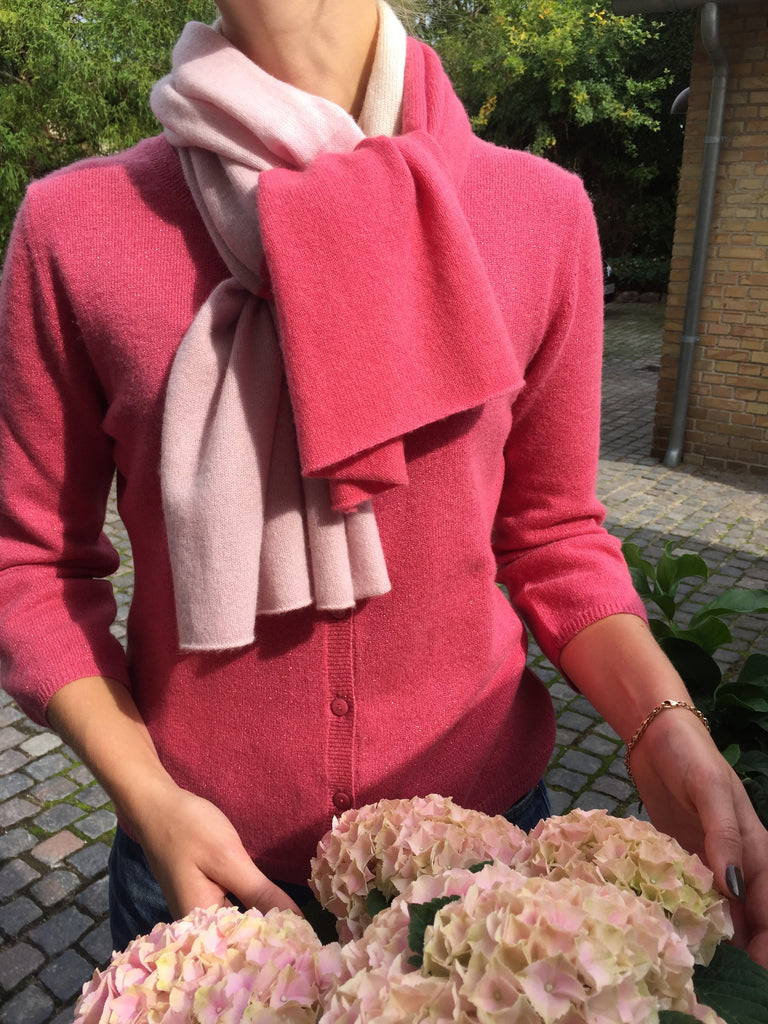 Cardigan with 3/4 sleeves - Stargazer with lurex & Scarf Mixed Rose