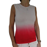 Dip dye tank top - Pale Rose to Pomgranate
