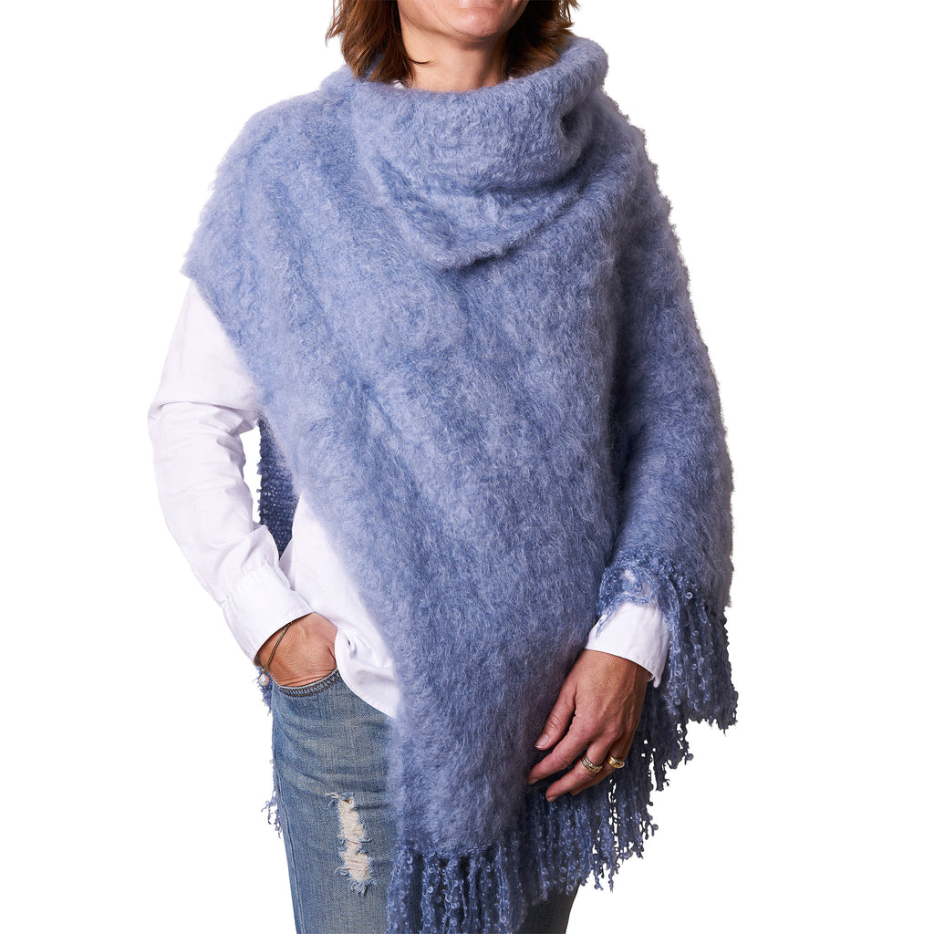 Mohair Poncho