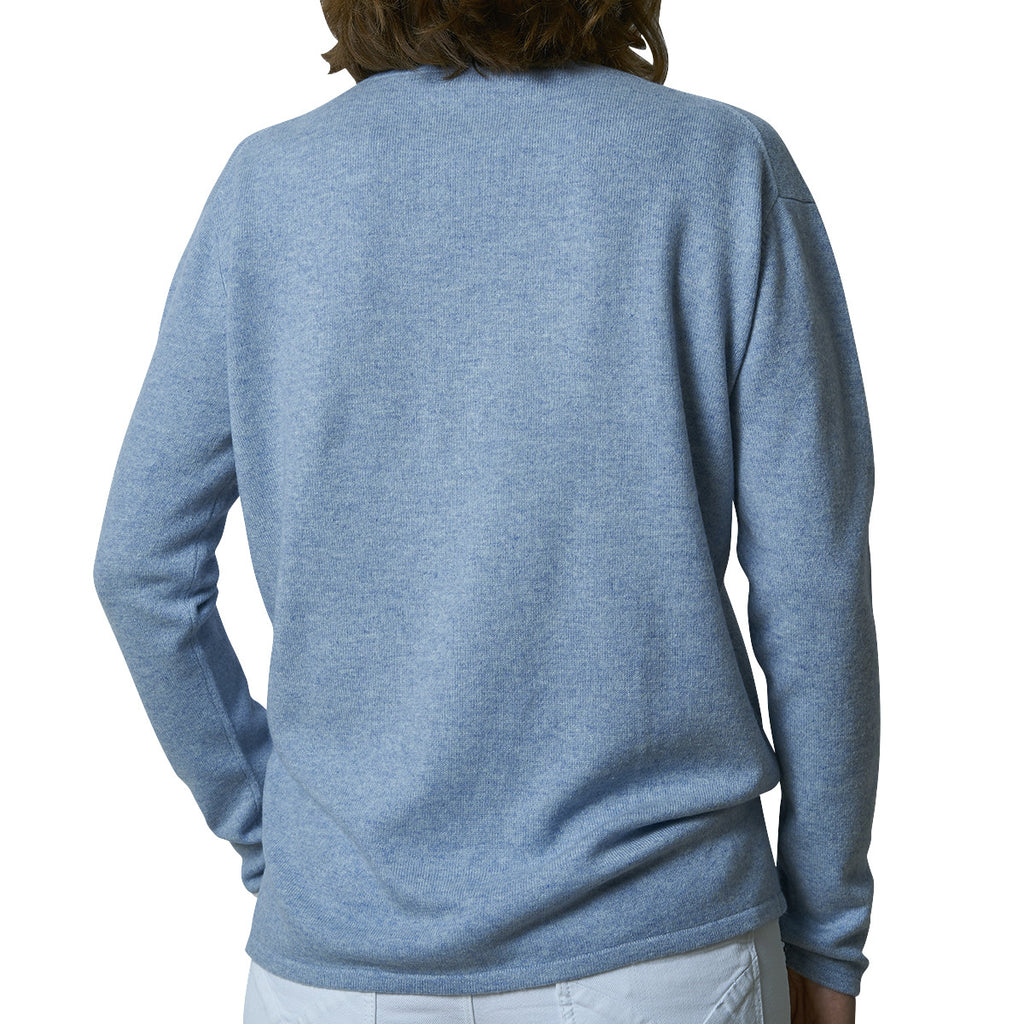 Oversized V-neck pullover - Ink Blue