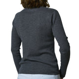 Round neck rib pullover - Castle Rock
