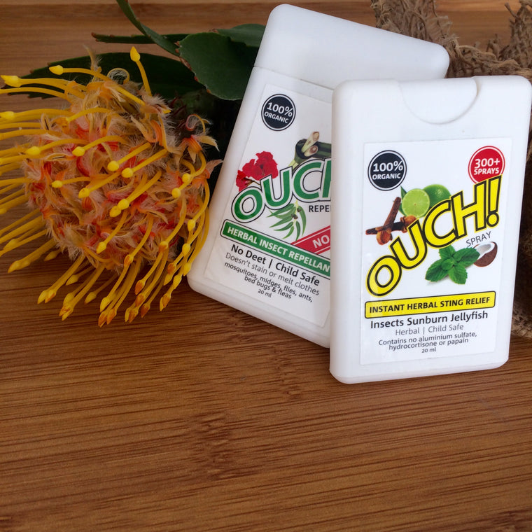 OUCH | Herbal Insect Repellent & Instant Relief Spray DUO