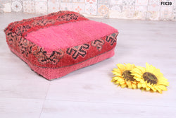 Double-sided oriental Moroccan rug pouf