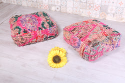 Oriental double-sided Moroccan rug pouf