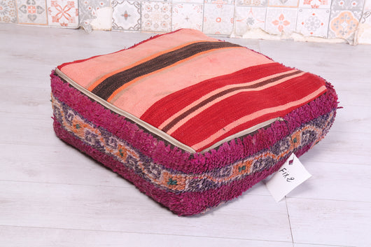 Double-sided Moroccan rug pouf
