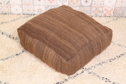Sharp brown Moroccan kilim pouf