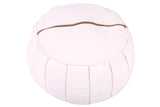Pink flamingo leather pouf 57