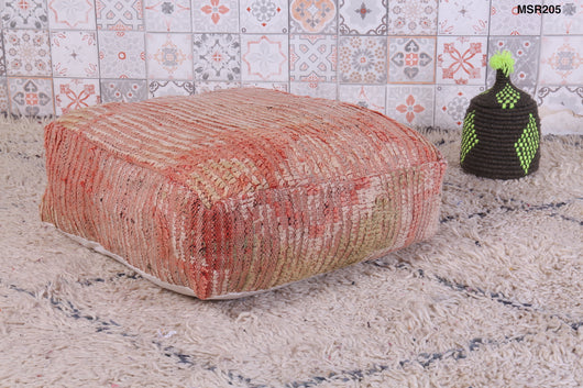 Authentic Moroccan kilim pouf