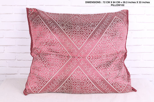 Moroccan vintage embroidered pillow