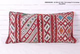 Traditional Moroccan rug pillow