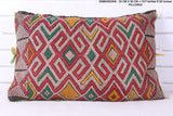 Bright Moroccan rug pillow