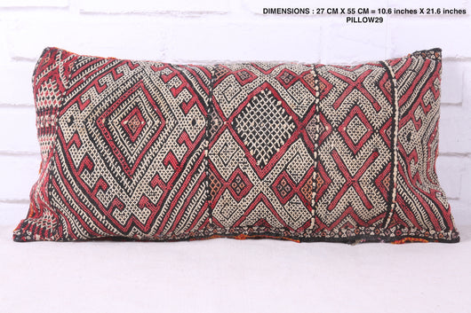 Stitched Moroccan rug pillow