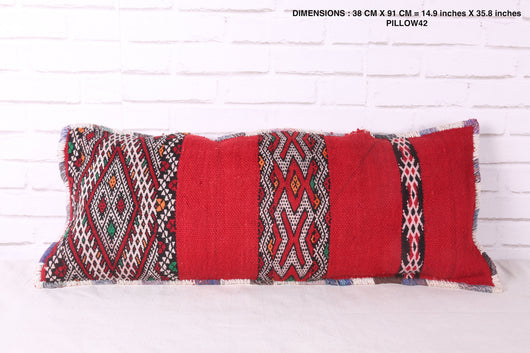 Moroccan red rug pillow