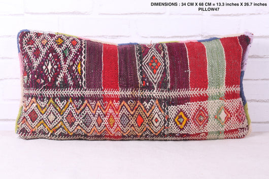 Patterned Moroccan rug pillow
