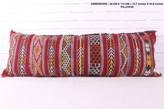 Long Moroccan rug pillow
