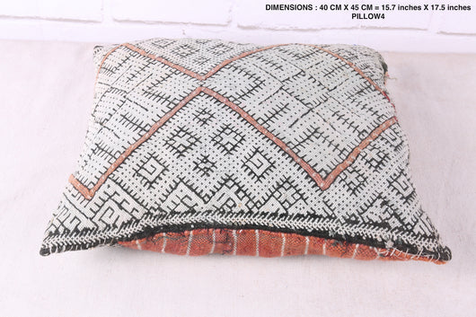 Luxury Moroccan rug pillow