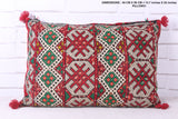Tribal Moroccan rug pillow