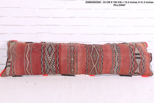 Moroccan hand-made rug pillow