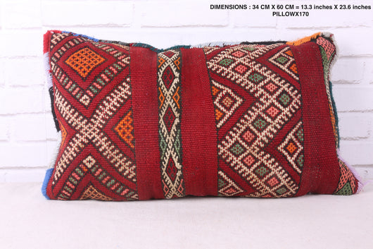 Dazzling Moroccan rug pillow