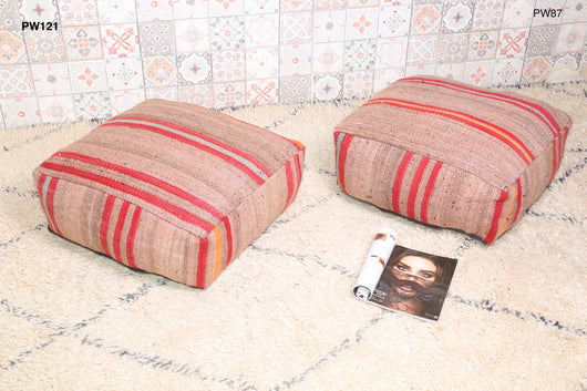 Comfortable, stylish Moroccan kilim pouf