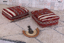 Luxurious Moroccan kilim pouf