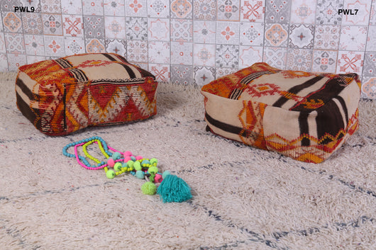 Special Moroccan rug pouf