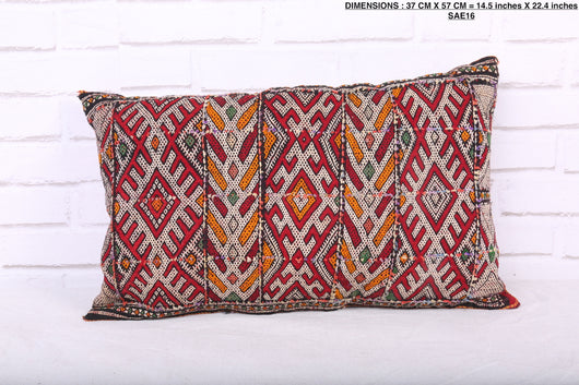 Moroccan pillow, 14.5 inches X 22.4 inches