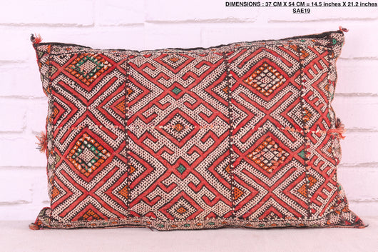 Moroccan pillow, 14.5 inches X 21.2 inches