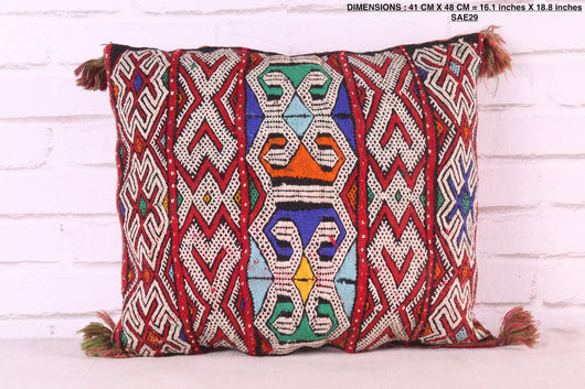 moroccan pillow, 16.1 inches X 18.8 inches