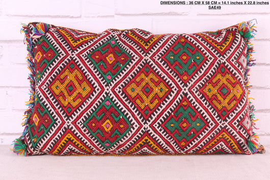 moroccan pillow, 14.1 inches X 22.8 inches