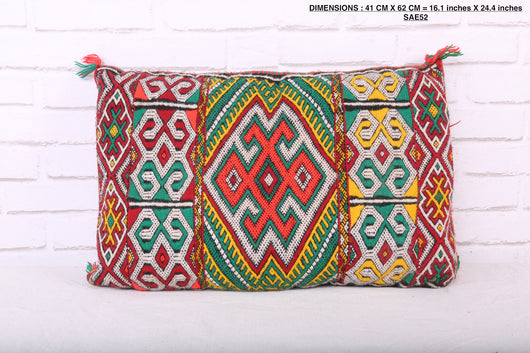 moroccan pillow, 16.1 inches X 24.4 inches