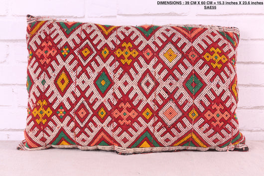 moroccan pillow, 15.3 inches X 23.6 inches