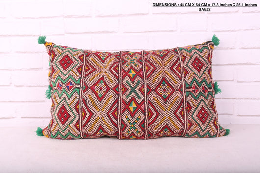 Moroccan rug pillow, 17.3 inches X 25.1 inches