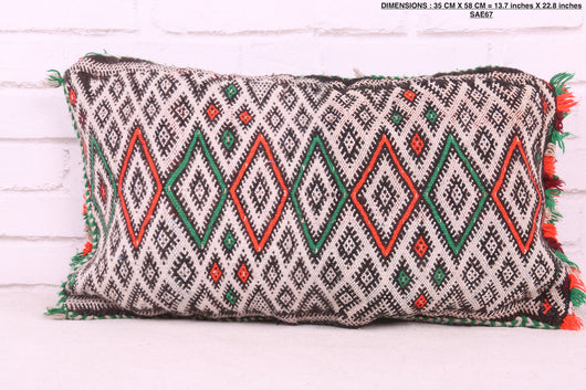 Moroccan wool rug pillow