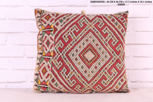 Moroccan rug pillow, 17.7 inches X 18.1 inches