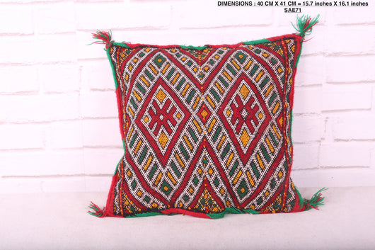 Moroccan rug pillow, 15.7 inches X 16.1 inches