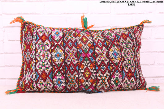 Moroccan rug pillow, 13.7 inches X 24 inches