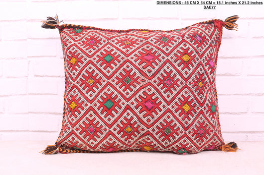 Moroccan rug pillow, 18.1 inches X 21.2 inches