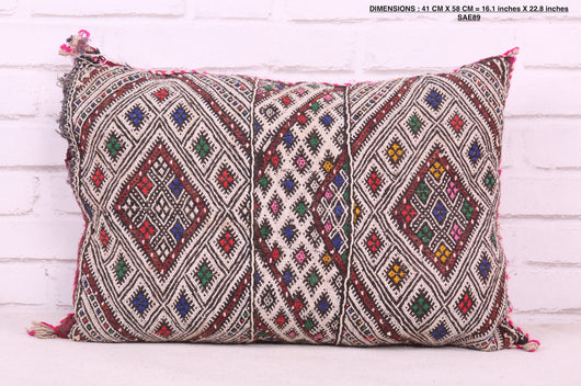 Unique Moroccan rug pillow