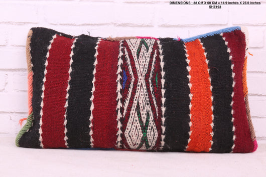 Striped Moroccan rug pillow