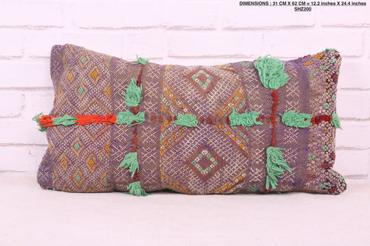 Individualistic Moroccan rug pillow