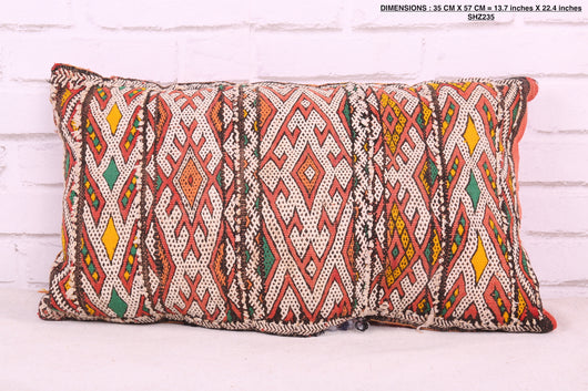 Colorful, double-sided Moroccan rug pillow