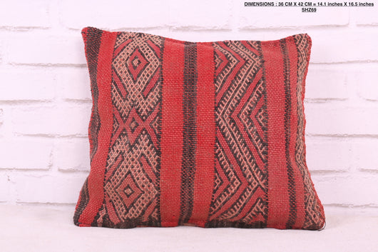 Red Moroccan rug pillow