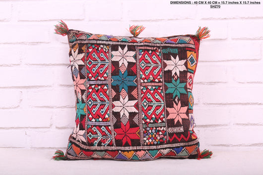 Square Moroccan rug pillow