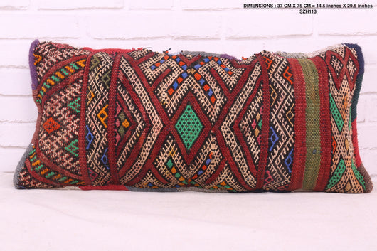 Colorful Moroccan rug pillow