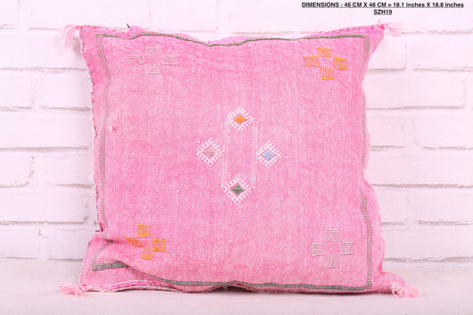 Bohemian rose Moroccan rug pillow